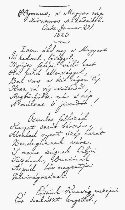 Kölcsey_Himnusz_kézirat_1823